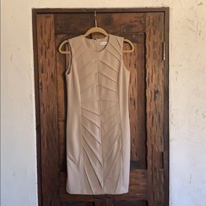 A cream Art Deco inspired dress